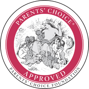 Golden award seal from the Parent's Choice Foundation